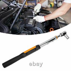 1/2 Drive Torque Wrench Digital LCD Display Spanner Key Hand Tools Set 10-200Nm
