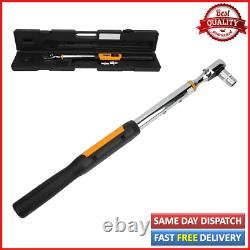 1/2 Torque Wrench Digital LCD Display + Buzzer Spanner Key Hand Tool 10-200Nm