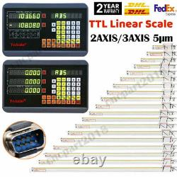 2/3Axis Digital Readout Linear Scale 5µm DRO Display for Milling Lathe Machine