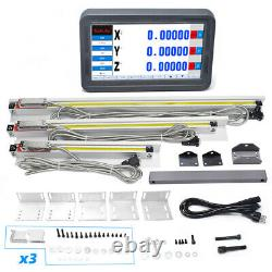 3Axis Digital Readout Touch Screen LCD Display & 3pcs TTL Linear Glass Scale Kit