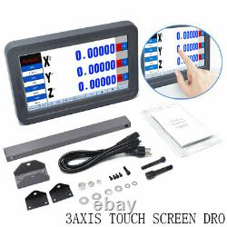 3Axis Milling Lathe Digital Readout DRO LCD Touch Screen 5micron Display Reading