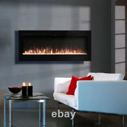 50 Inch Digital Flames Insert Wall Mounted Electric Led Fireplace +log & Crystal