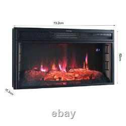 73 x16 x62cm Wall Inset Mounted Electric LED Fireplace Digital Flame Fire Heater