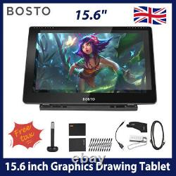 BOSTO 15.6 Drawing Digital Graphics Tablet LCD Display Board With Stylus Pen