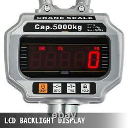 Crane Scale 5Ton Crane Scale Industrial Hook Hanging Weight Digital LCD Display