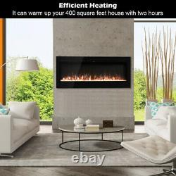 Electric 40/50/60 Inch Fireplace Insert Wall Mounted Digital Flame Fire withRemote