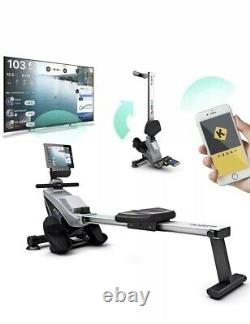 Fitness Home Gym Foldable Rowing Machine LCD Digital Fineness Console