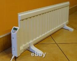 Low Profile 300 mm High 800W Oil Filled Electric Radiator Heater Wall Mountable