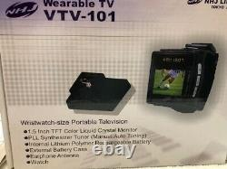 Nhj Wearable Wristwatch Tv Television 1.5 Tft LCD Color Portable Retrotech