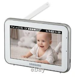 Samsung SEW-3043W Bright View VIDEO BABY MONITOR 5 LCD TOUCH SCREEN & Camera