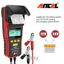 Vehicles 12V 24V Battery Tester With Printer Charge System Digital Analyzer Tool