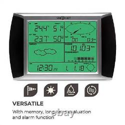 Weather Station Wireless Digital Forecast LCD Touch Display Solar Powered Alarm