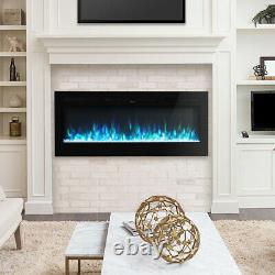 XLarge Electric Insert Fireplace 60 Inch Wall Mounted LED Digital Flame withRemote