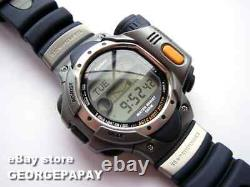 New Rare Nos 2000 Casio Spf10 MB Sea Pathfinder LCD Digital Thermo Scanner Montre